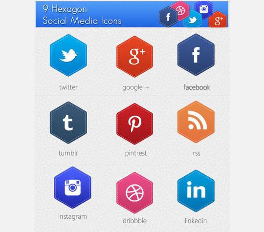 12 Free Hexagon Icon Sets & Photoshop Files 13