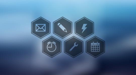 12 Free Hexagon Icon Sets & Photoshop Files 5