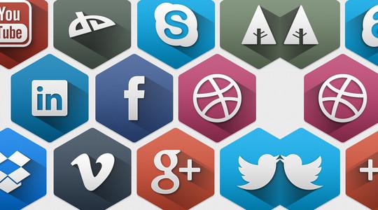 12 Free Hexagon Icon Sets & Photoshop Files 8