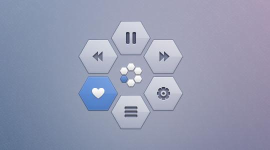 12 Free Hexagon Icon Sets & Photoshop Files 9