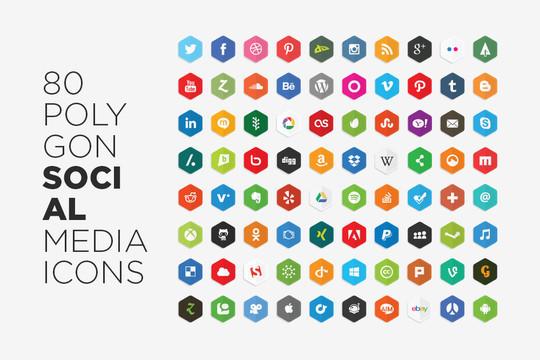 12 Free Hexagon Icon Sets & Photoshop Files 10