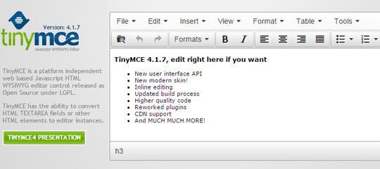 9 Free Javascript/jQuery WYSIWYG HTML Editors 2