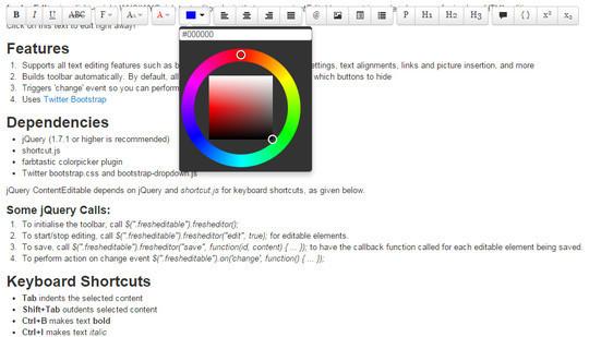 9 Free Javascript/jQuery WYSIWYG HTML Editors 10