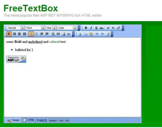 9 Free Javascript/jQuery WYSIWYG HTML Editors 3