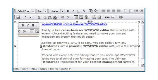 9 Free Javascript/jQuery WYSIWYG HTML Editors 6