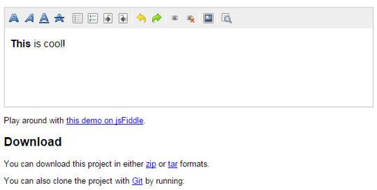 9 Free Javascript/jQuery WYSIWYG HTML Editors 8