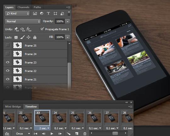 8 Photoshop UI Animation Tutorials 4