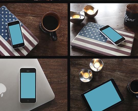 16 Free Mobile, Tablet & Laptop Mockups 3