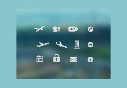 13 Tourism & Travel Icon Set For Free Download 12