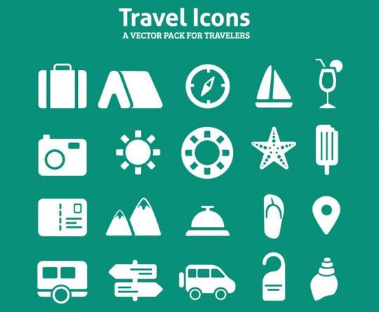 13 Tourism & Travel Icon Set For Free Download 8