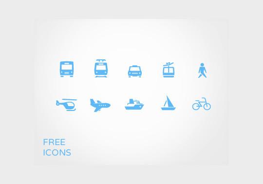 13 Tourism & Travel Icon Set For Free Download 9