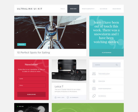 10 Fresh And Free UI Kits For Designers 5