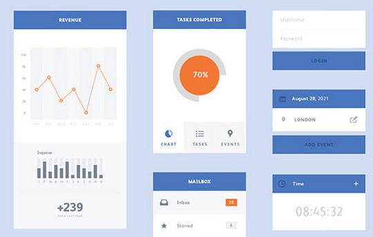 10 Fresh And Free UI Kits For Designers 7