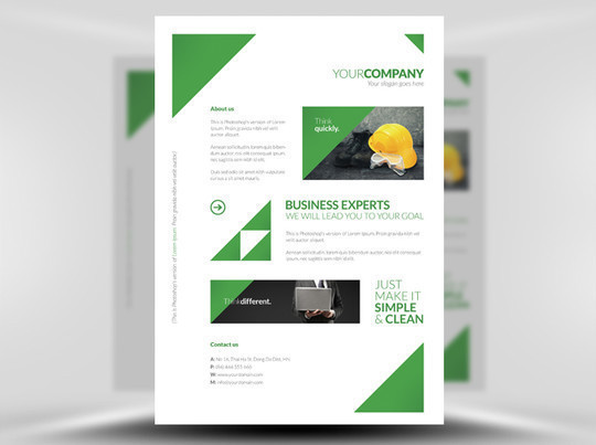 14 Best Print Ready PSD Flyer Templates For Free Download 14