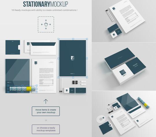 14 Free Stationary & Branding Mockups 15