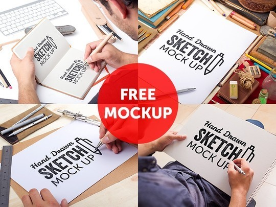14 Free Stationary & Branding Mockups 11