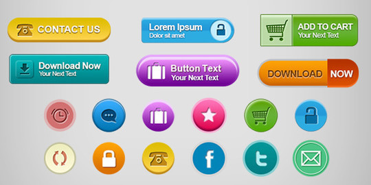 12 Fresh High Quality Free Web Button Files 10