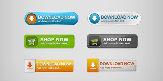 12 Fresh High Quality Free Web Button Files 11