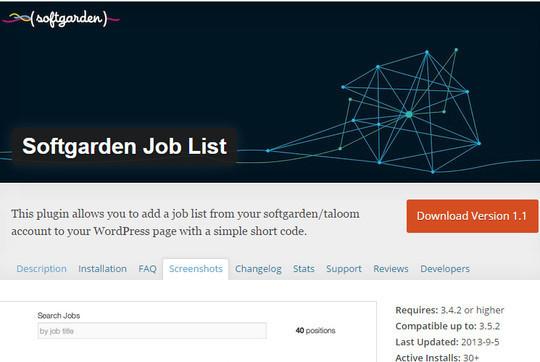 8 (More) Free WordPress Plugins For Job Boards 3