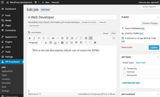8 (More) Free WordPress Plugins For Job Boards 7