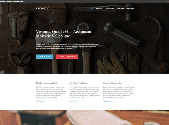 12 Free And Fresh HTML5 Web Templates 11