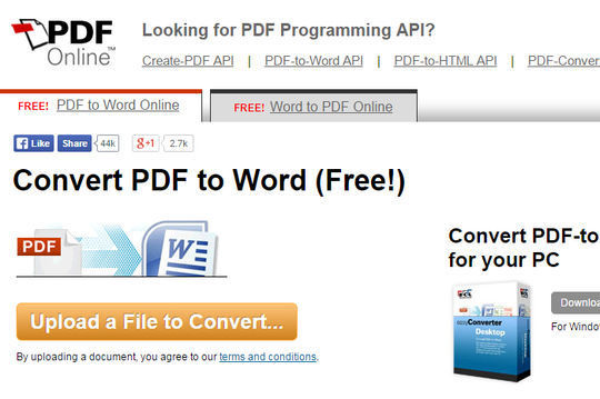 8 Free Tools That Convert PDF To Word 7