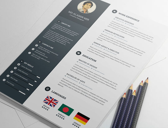 10 Creative Free Resume Templates To Download 5