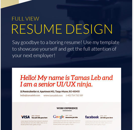 10 Creative Free Resume Templates To Download 6