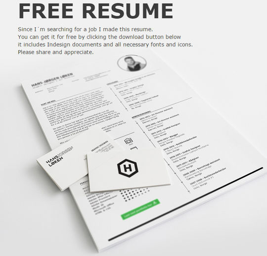 10 Creative Free Resume Templates To Download 7