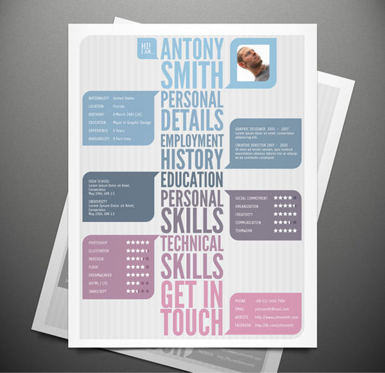 10 Creative Free Resume Templates To Download 205