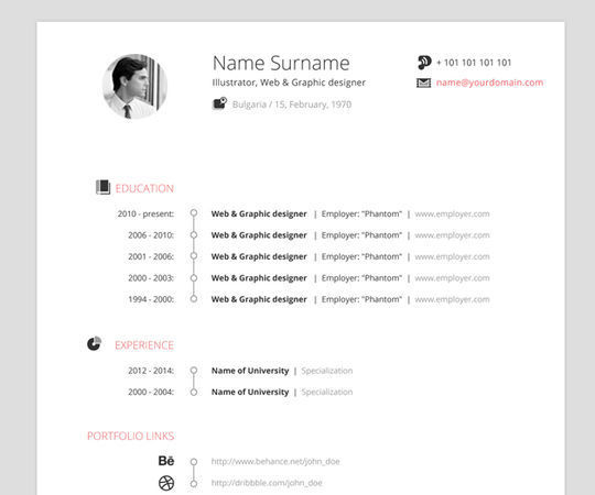 10 Creative Free Resume Templates To Download 11