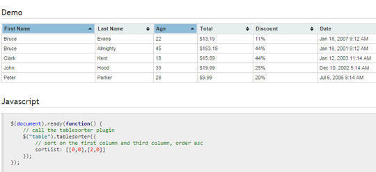 10 Useful JS Tools For better HTML Tables 11