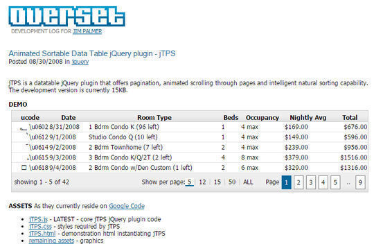 10 Useful JS Tools For better HTML Tables 7