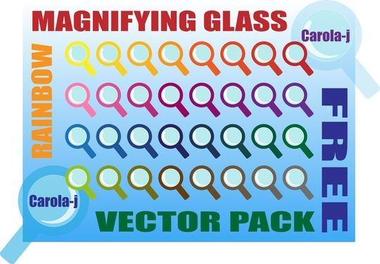 10 Free Magnifying Glass Search Icons (.AI & PSD) 7