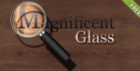 10 Free Magnifying Glass Search Icons (.AI & PSD) 5