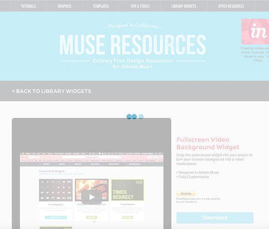 8 Must Have Free Adobe Muse Widgets 2