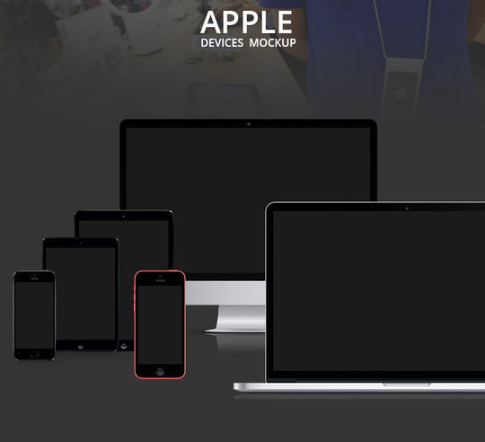 11 Free Apple Devices Mockup PSD Designs 5