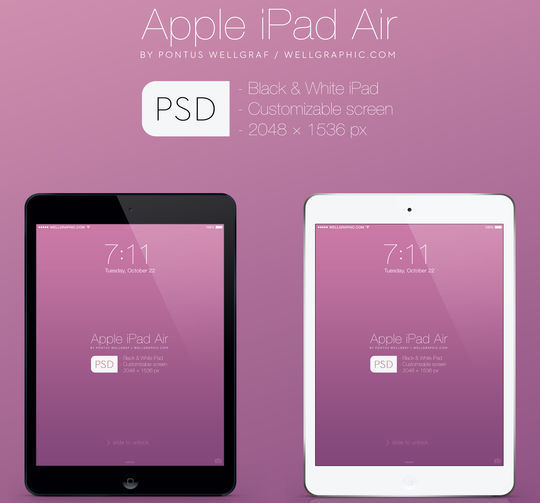 11 Free Apple Devices Mockup PSD Designs 8