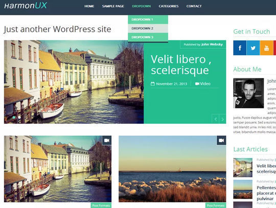 11 Free Fresh HTML5 & Responsive WordPress Themes 5