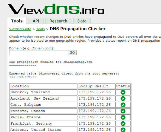 9 Sites To Check DNS Propagation 5