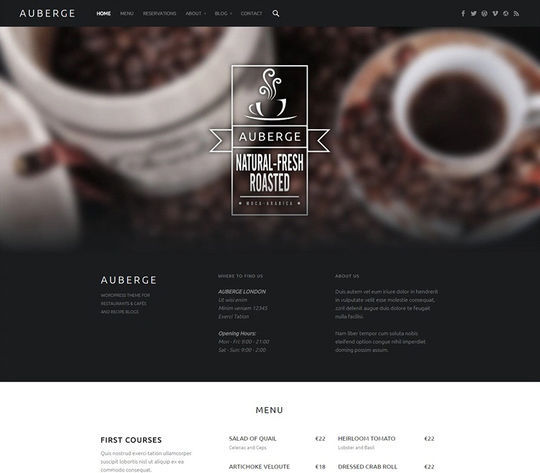 12 Free Food & Restaurant WordPress Themes 2
