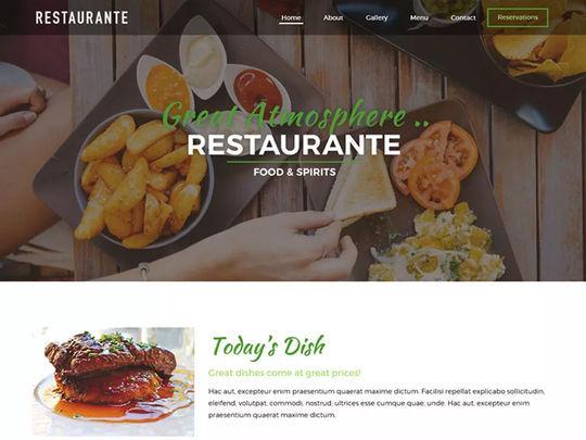 12 Free Food & Restaurant WordPress Themes 3