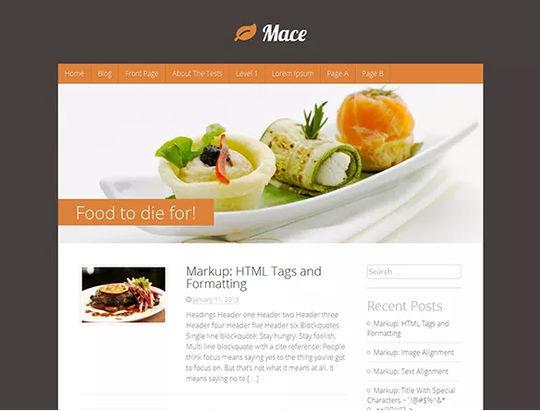12 Free Food & Restaurant WordPress Themes 4