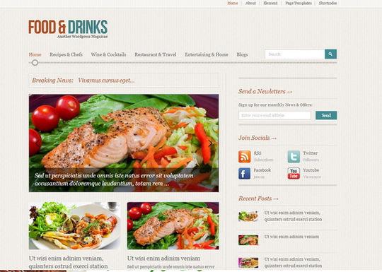 12 Free Food & Restaurant WordPress Themes 5