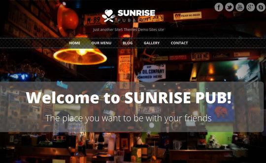 12 Free Food & Restaurant WordPress Themes 6