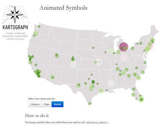 10 Free JavaScript Tools To Create Interactive Maps 3