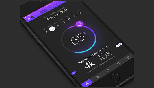 11 Dark UI Concepts (PSD) For Your Design 7