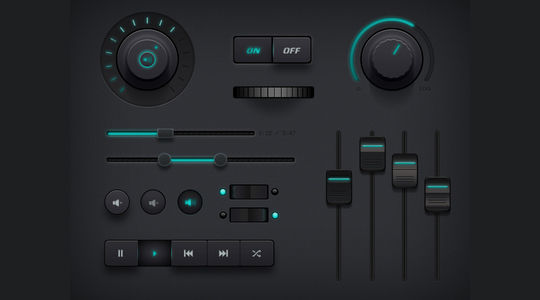 11 Dark UI Concepts (PSD) For Your Design 9