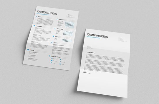 14 Free Simple Resume PSD Mockups & Templates 12