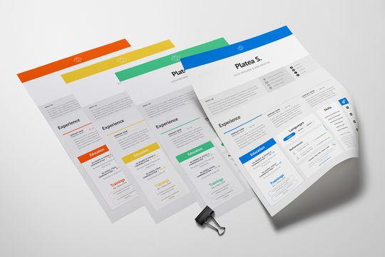 14 Free Simple Resume PSD Mockups & Templates 13